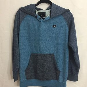 BILLABONG Boy's Blue Long Sleeve Hoodie